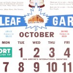 Vintage Toronto Maple Leafs and Montreal Canadiens NHL Calendars
