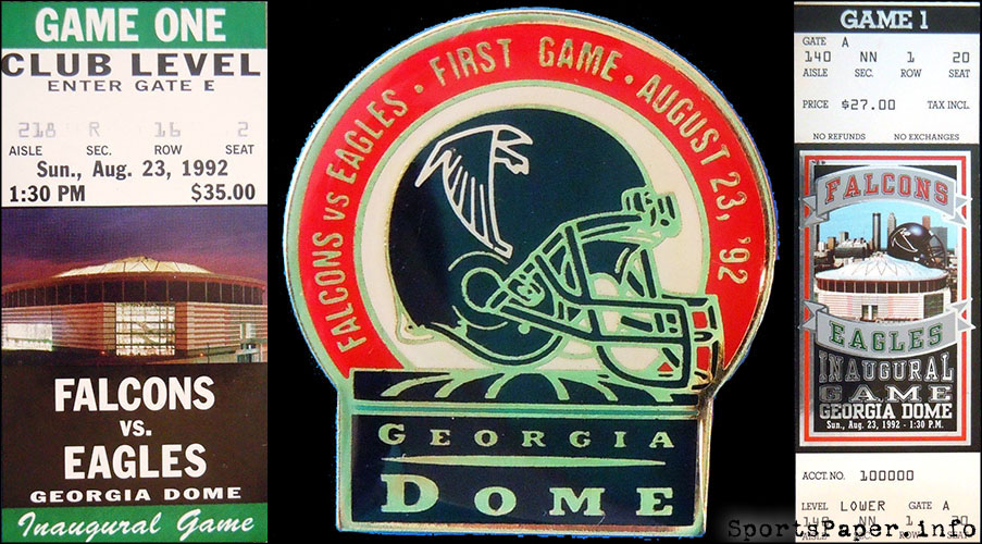 georgia dome opening day 1992