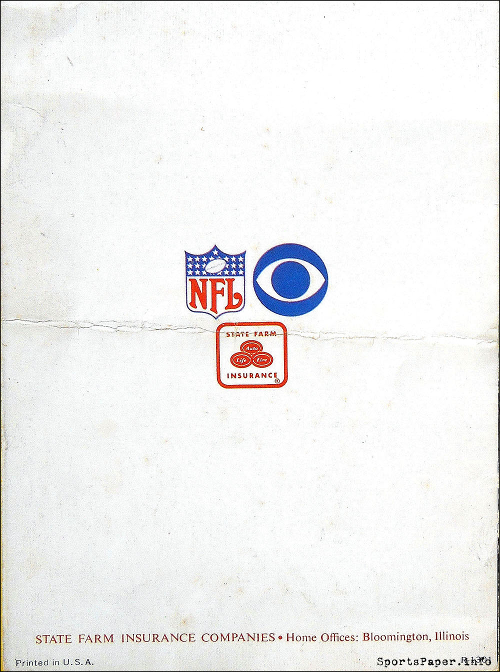 1967 State Farm/George Carlin NFL Brochure | SportsPaper.info - The Blog