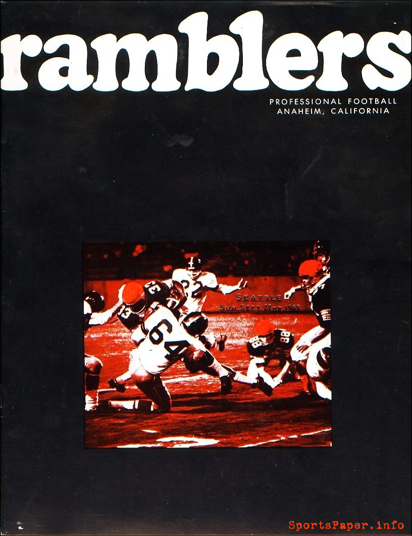 Orange County Ramblers vs. Seattle Rangers (September 22, 1968)