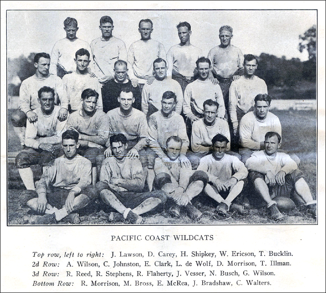 1926, Pacific Coast Wildcats, American Football League