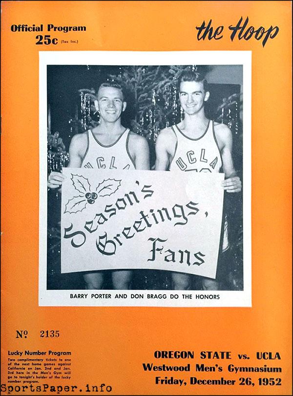 UCLA vs. Oregon State men's basketball, December 26, 1952