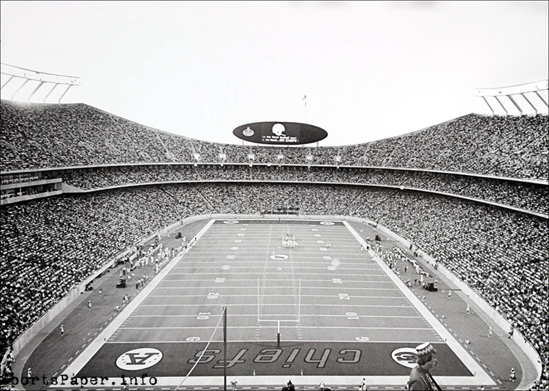 Photo taken before the first game at Arrowhead Stadium: Kansas City Chiefs vs. St. Louis Cardinals (August 12, 1972)