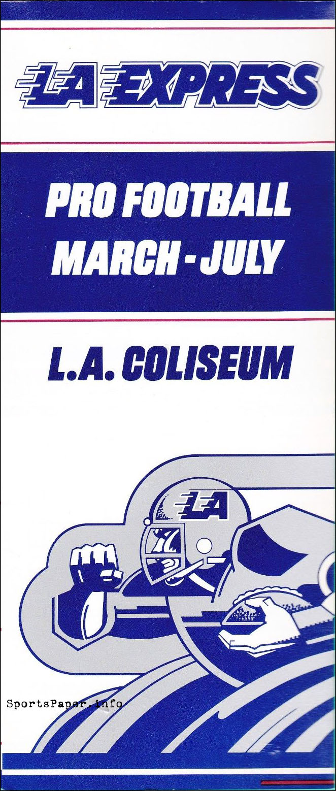 1983 Los Angeles Express Ticket Brochure