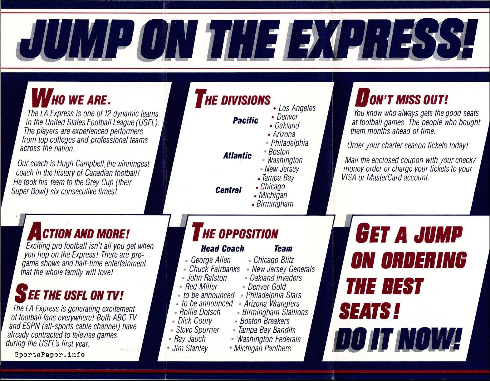 1983 Los Angeles Express Ticket Brochure