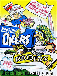 Houston Oilers vs. Oakland Raiders (September 9, 1961)