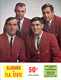 Alabama Crimson Tide (#1) vs. Florida State Seminoles (#3) (September 23, 1967)