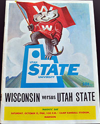 Wisconsin Badgers (#9) vs. Utah State Aggies (October 12, 1968)