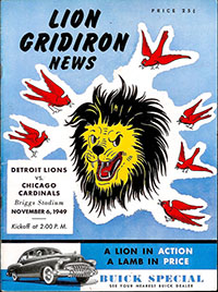 Detroit Lions vs. Chicago Cardinals (November 6, 1949)