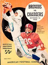 Denver Broncos vs. Los Angeles Chargers (October 16, 1960)