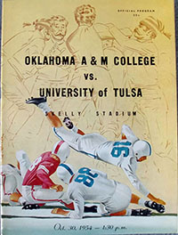 Tulsa Golden Hurricane vs. Oklahoma A&M Aggies (#10) (October 30, 1954)