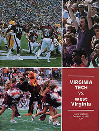 Virginia Tech Hokies (#21) vs. West Virginia Mountaineers (#22) (October 16, 1982)