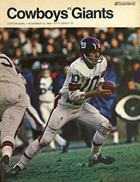 Dallas Cowboys vs. New York Giants (November 10, 1968)