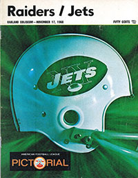 Oakland Raiders vs. New York Jets (November 17, 1968)