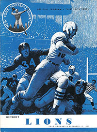 New York Giants vs. Detroit Lions (December 13, 1953)