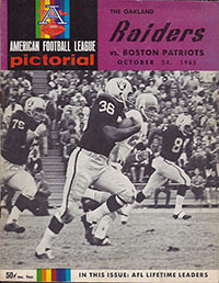 Oakland Raiders vs. Boston Patriots (October 24, 1965)