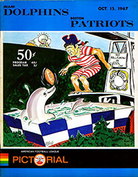 Boston Patriots vs. Miami Dolphins (October 15, 1967)