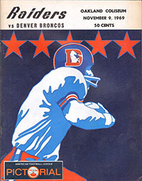 Oakland Raiders vs. Denver Broncos (November 9, 1969)