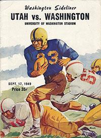 Washington Huskies (#16) vs. Utah Utes (September 17, 1949)