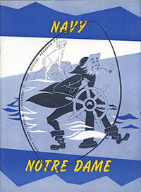 Notre Dame Fighting Irish (#9) vs. Navy Midshipmen (October 31, 1959)