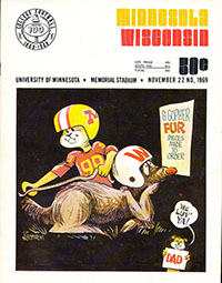 Minnesota Golden Gophers vs. Wisconsin Badgers (#5) (November 22, 1969)
