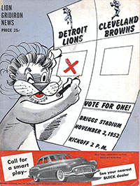 Detroit Lions vs. Cleveland Browns (November 2, 1952)