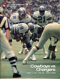 Dallas Cowboys vs. San Diego Chargers (August 6, 1977)