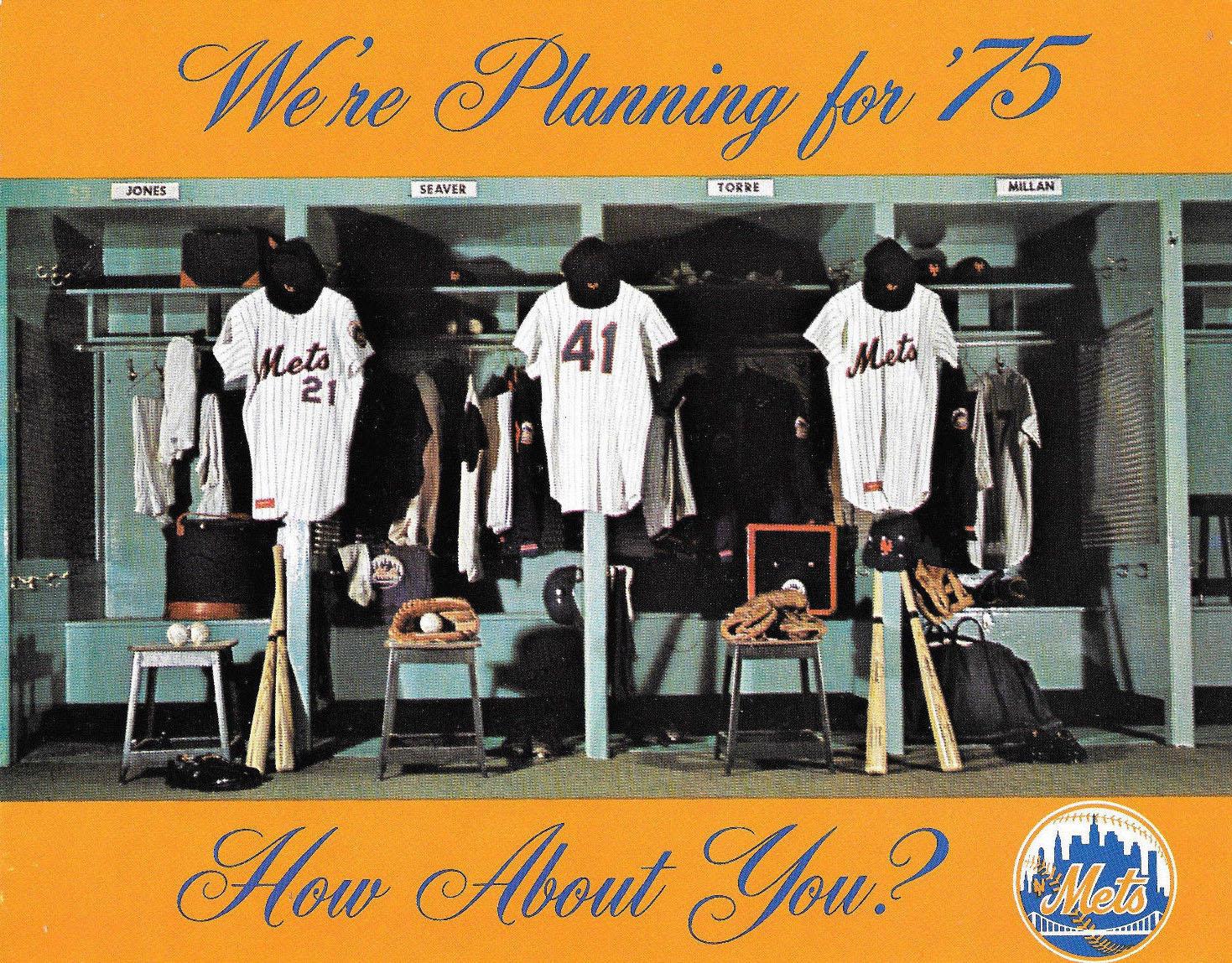 1975 New York Mets season ticket brochure/schedule