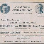 Classic Programs: Canton Bulldogs vs. Akron Pros, 1922